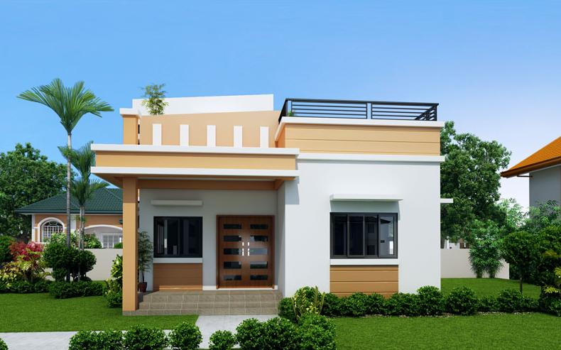 Mẫu nhà mái thái 1 tầng nông thôn đơn giản, ấn tượng