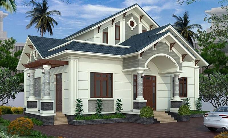 Thiết kế nhà cấp 4 mái thái 3 phòng ngủ 1 phòng thờ