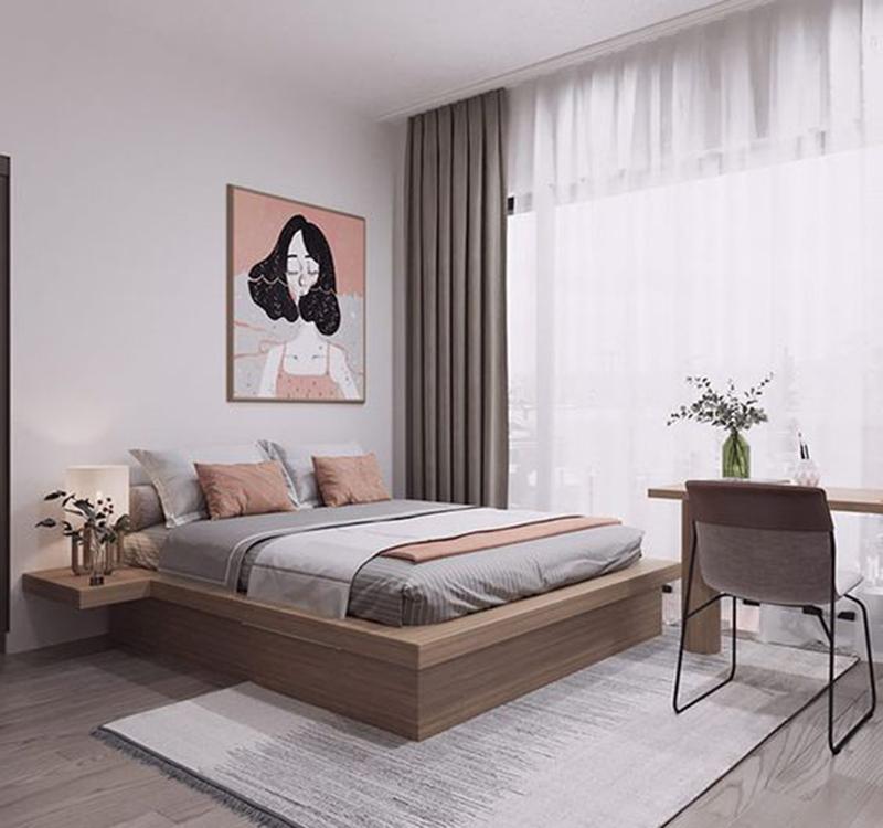 Mẫu thiết kế căn hộ chung cư 45m2 cho cá nhân hoặc vợ chồng trẻ