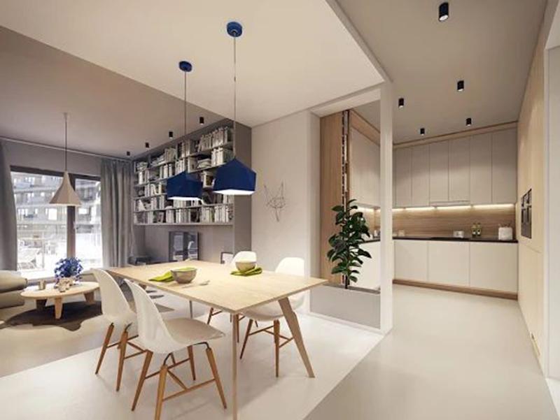 Thiết kế nội thất chung cư 58m2 - 1 phòng ngủ