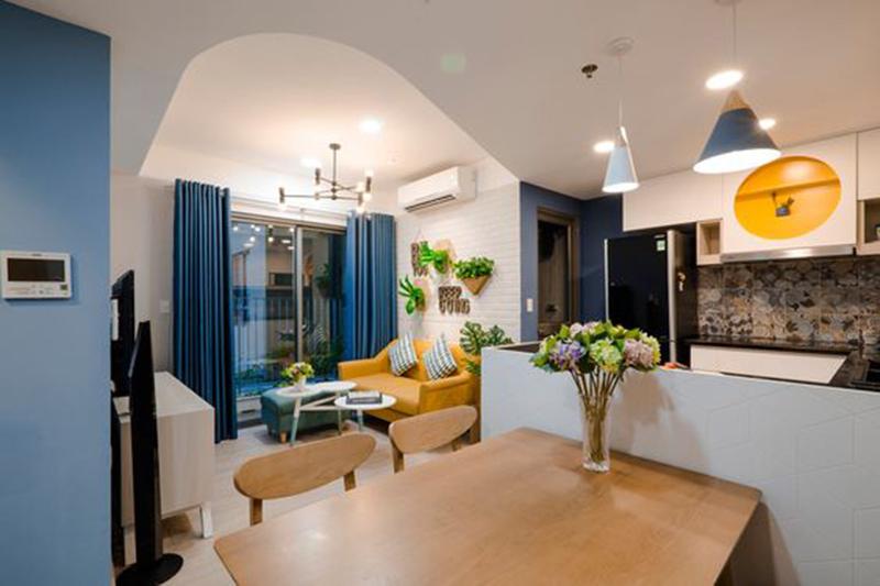 Thiết kế nội thất căn hộ 60m2 - 2 phòng ngủ hiện đại