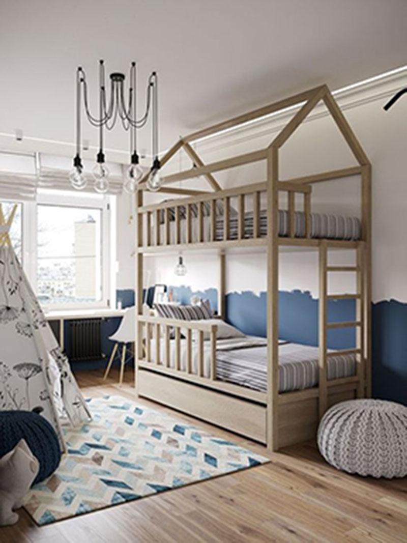 Mẫu thiết kế phòng ngủ cho bé trai từ 8 đến 10 tuổi