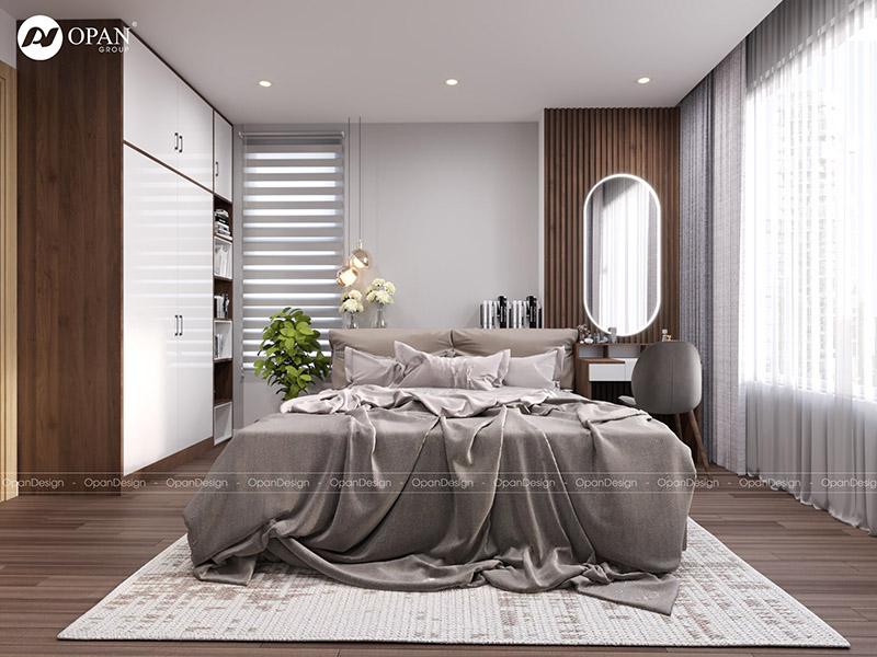 Mẫu thiết kế nội thất phòng ngủ trên 20m2