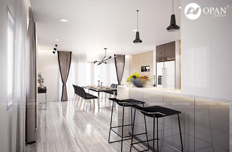 Mẫu thiết kế phòng bếp cho biệt thự
