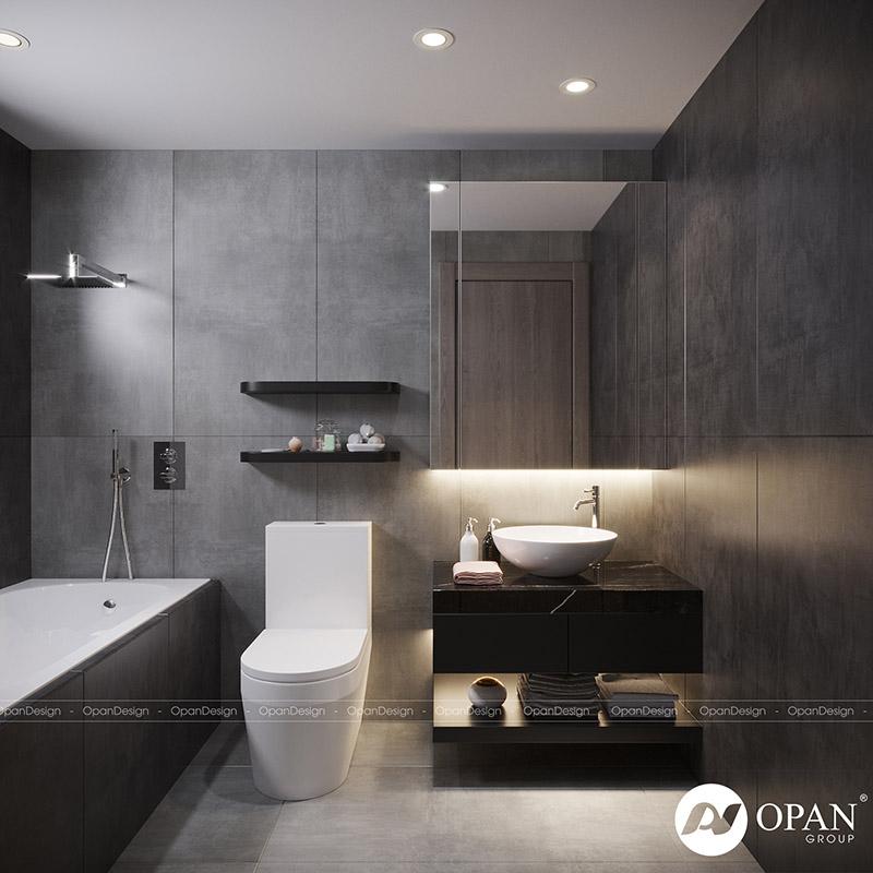 Mẫu thiết kế phòng tắm đơn giản