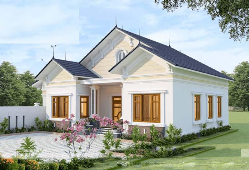 Thiết kế nhà vườn cấp 4 mái thái nông thôn đầy nắng và gió