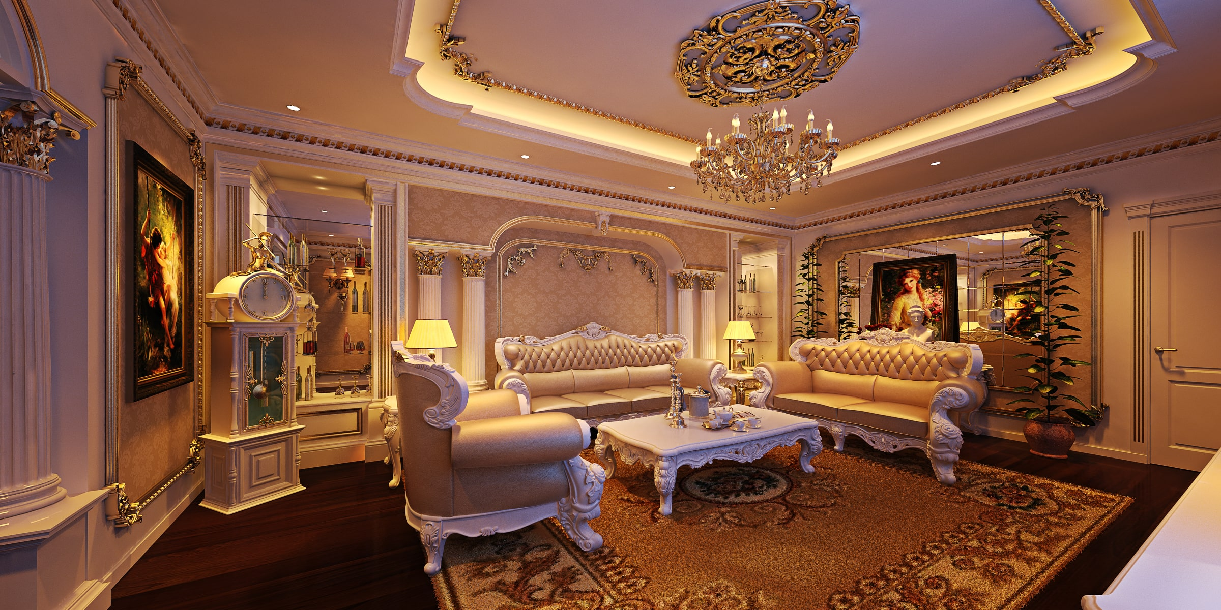 Chọn lựa nội thất cho phong cách Tân cổ điển của biệt thự