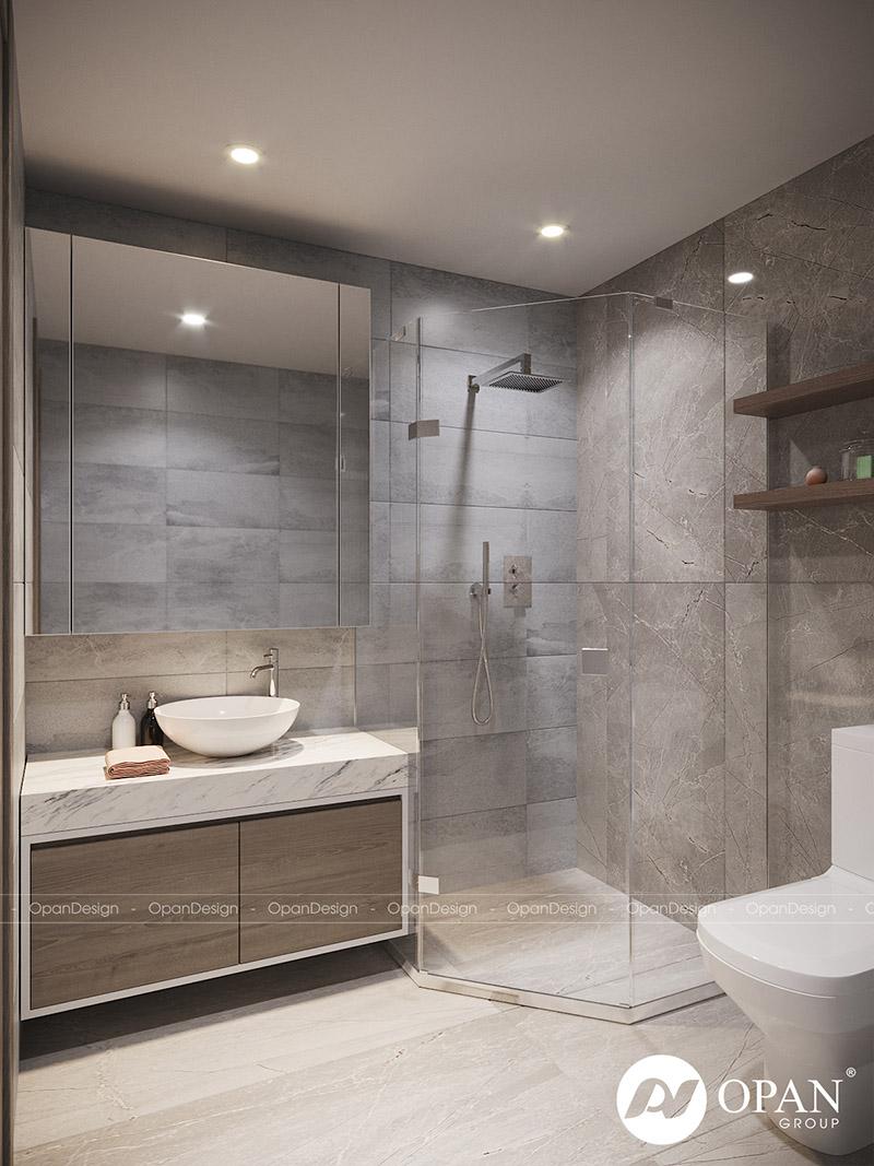 Mẫu thiết kế phòng tắm, nhà vệ sinh cho nhà nhỏ