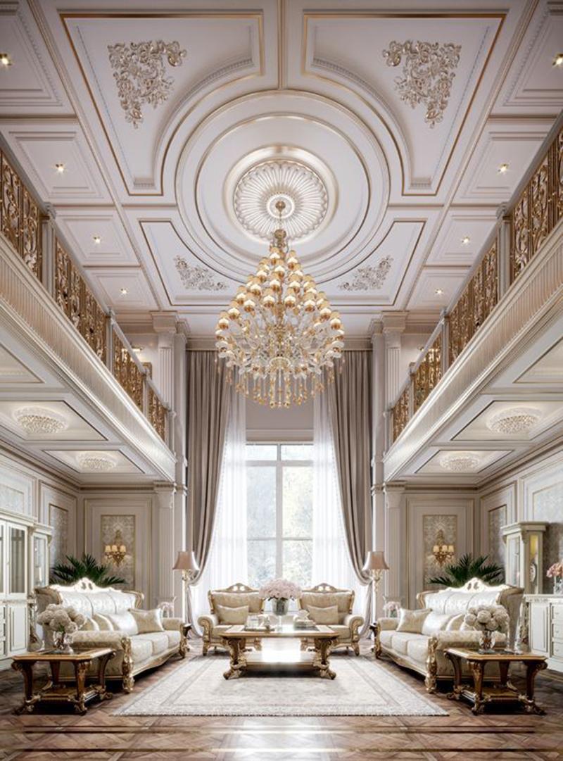 Phong cách thiết kế nội thất biệt thự cổ điển