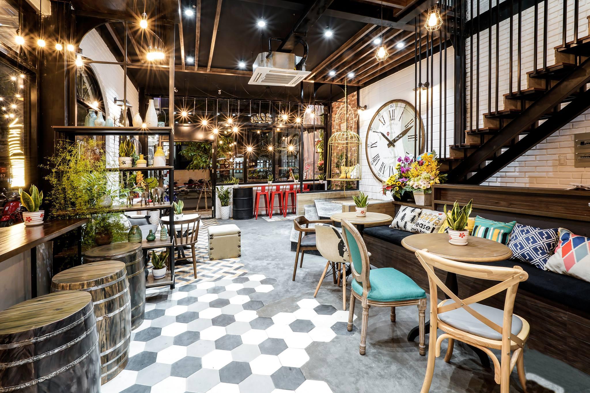 Thiết kế quán cafe không gian nhỏ hẹp