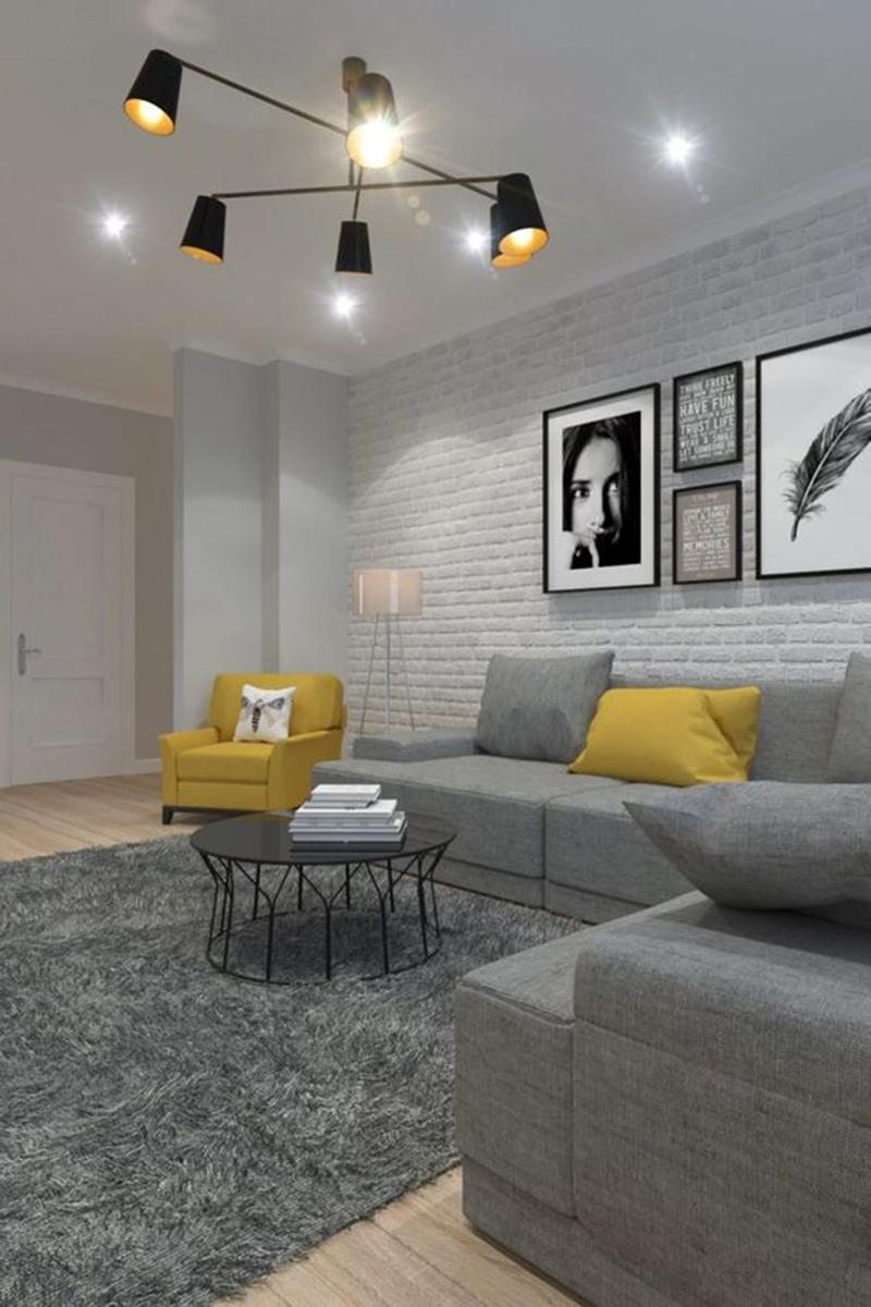 Thiết kế nội thất căn hộ 70m2 với phong cách đơn giản