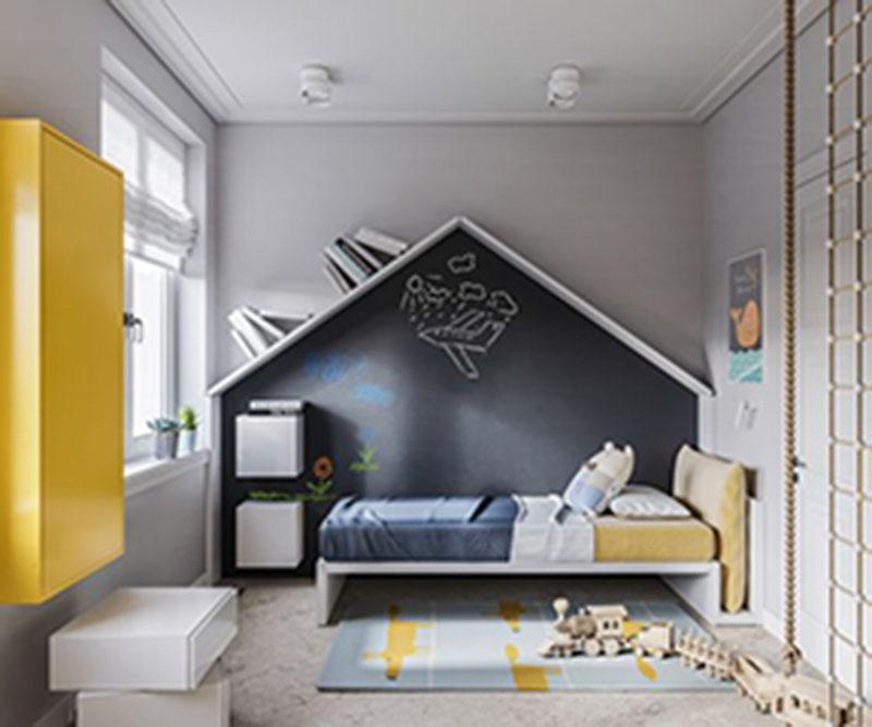 Chú ý màu sắc trong phòng ngủ cho bé trai