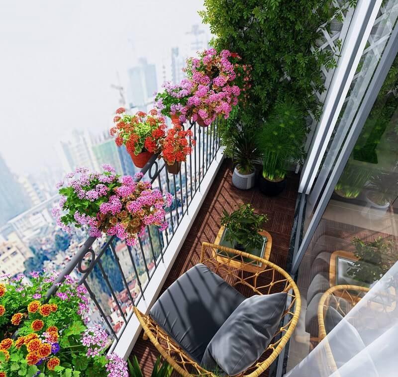 Thiết kế ban công nhà chung cư đẹp tự nhiên