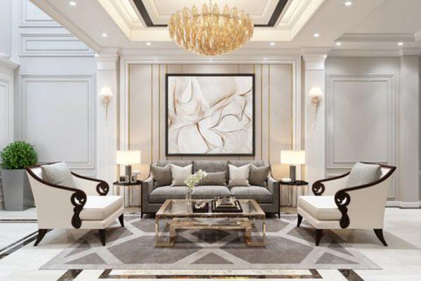 Tổng hợp những thiết kế nội thất phòng khách tân cổ điển đẹp mê hồn đến từ OPAN VIỆT NAM