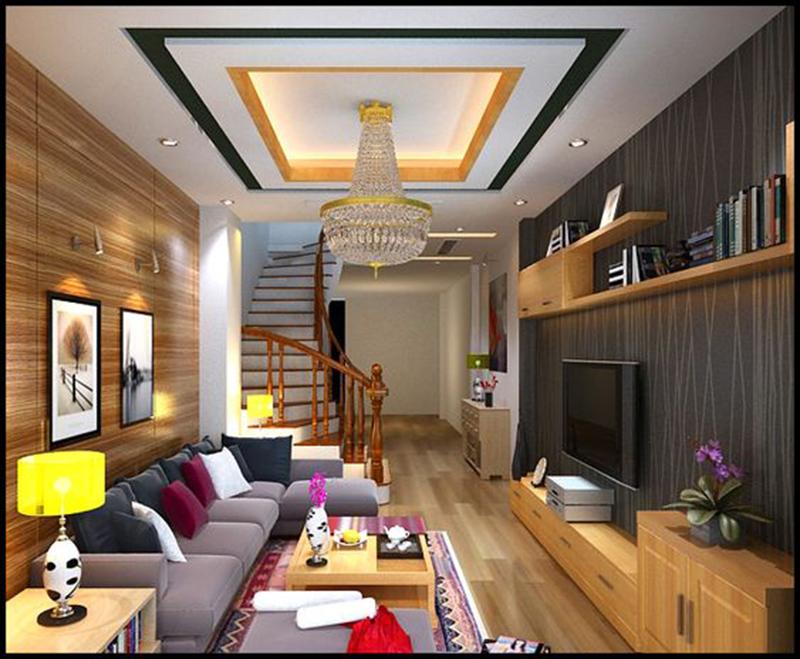 Thiết kế phòng khách nhà ống 4m đẹp và sang trọng