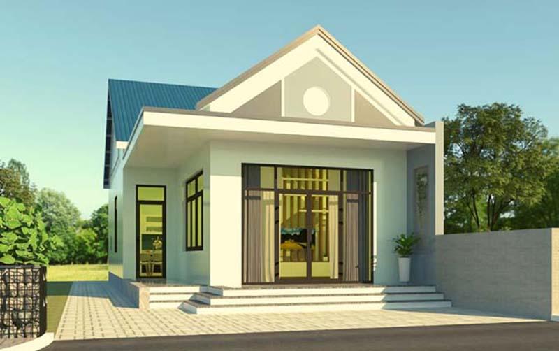 Thiết kế nhà cấp 4 mái thái 45m2 ở nông thôn theo phong cách tối giản