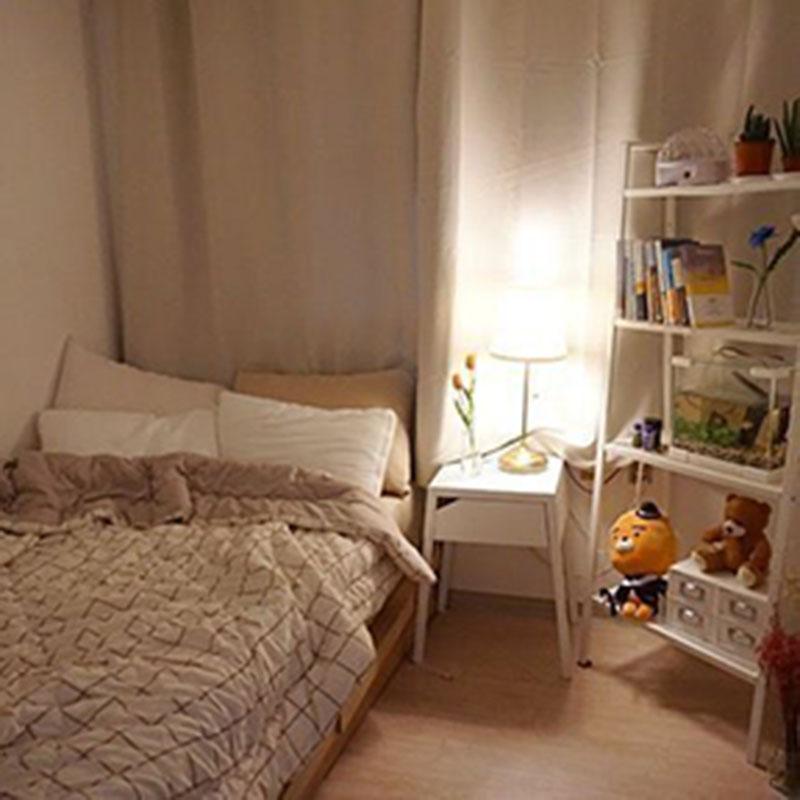 Dùng đồ handmade trong trang trí phòng ngủ nhỏ