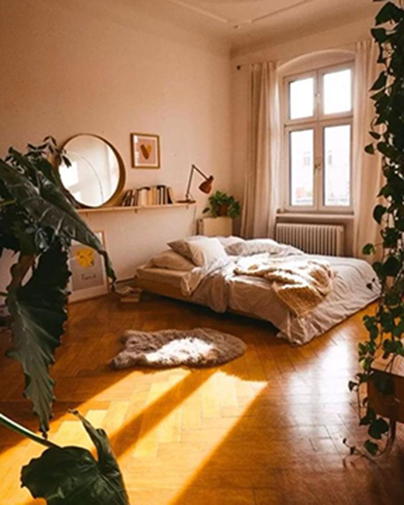Dùng rèm cửa trang trí để căn phòng ngủ nhỏ trở nên xinh xắn
