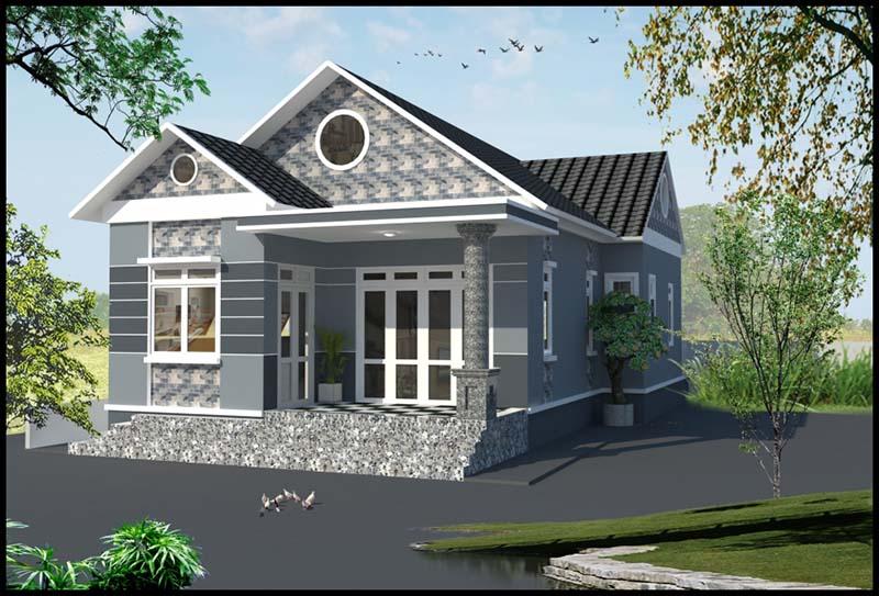 Thiết kế nhà vườn cấp 4 mái thái nông thôn hiện đại