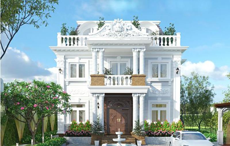 Mẫu thiết kế nhà 2 tầng kiểu Pháp