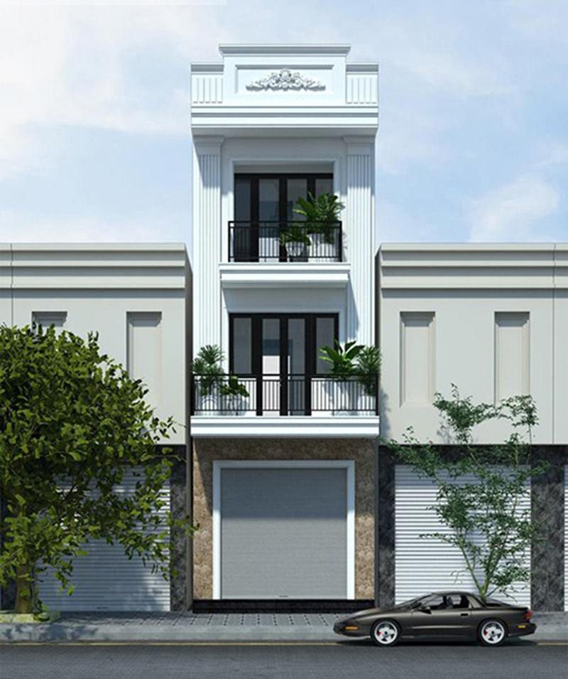 Nhà phố 5m kiến trúc pháp