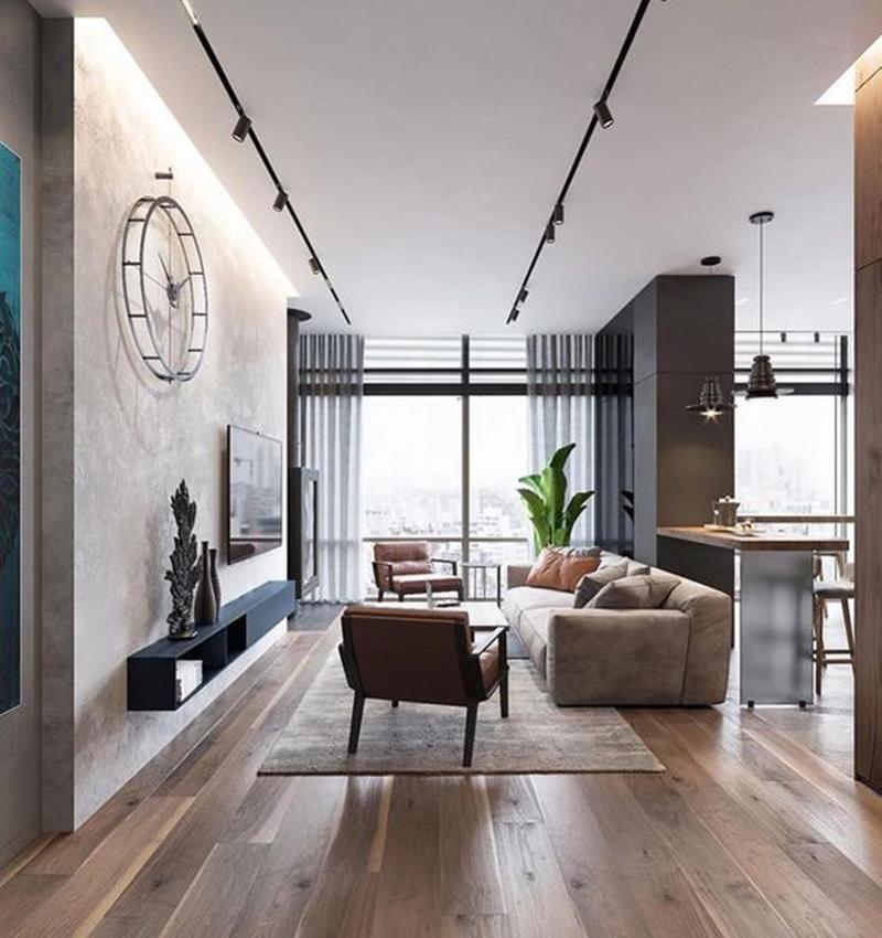 Mẫu 1 - một số mẫu thiết kế nội thất chung cư do OPAN thực hiện