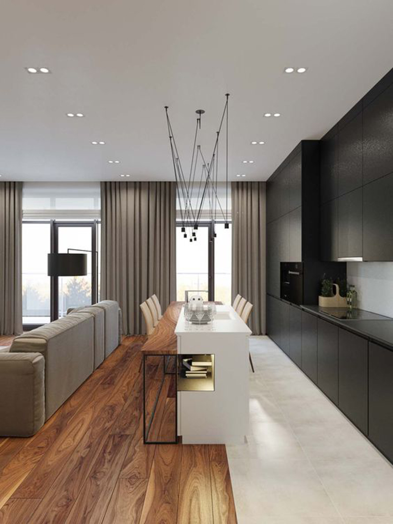 Mẫu 2 -Mẫu 1 - một số mẫu thiết kế nội thất chung cư do OPAN thực hiện