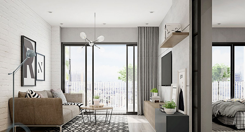 Mẫu 5 - Một số mẫu thiết kế nội thất chung cư do OPAN thực hiện