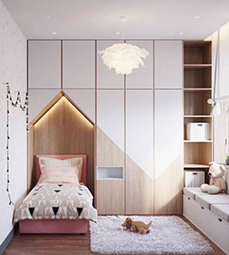 Màu sắc tươi sáng nên được lựa chọn khi thiết kế phòng ngủ cho bé