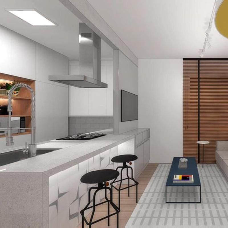 Nhà bếp tone màu trắng