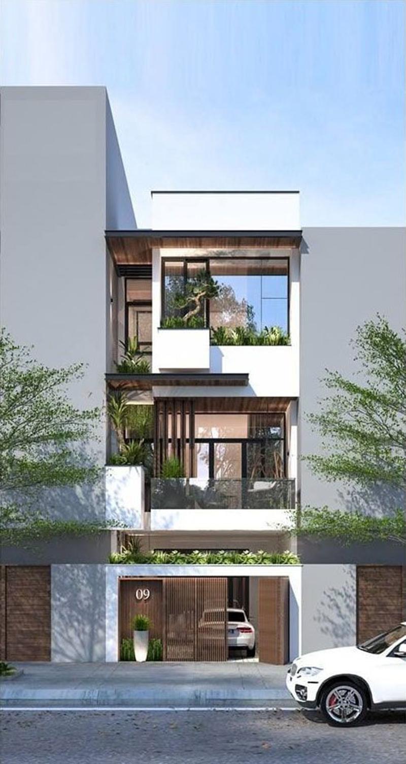 Mẫu nhà phố thiết kế 3 tầng đẹp