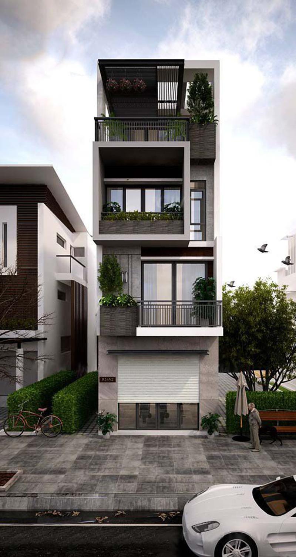 Mẫu nhà phố thiết kế 4 tầng hiện đại