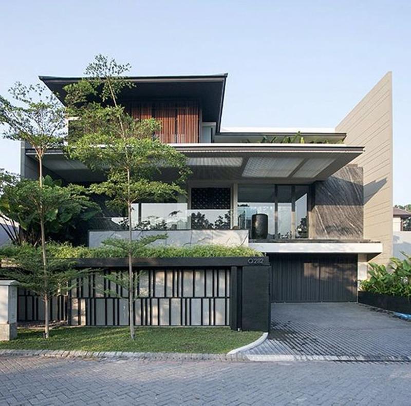 Mẫu thiết kế nhà vườn 2 tầng phong cách hiện đại