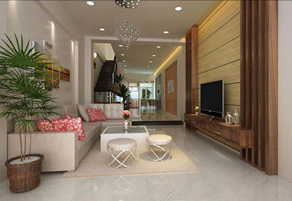 Mẫu thiết kế phòng khách nhà ống 5m