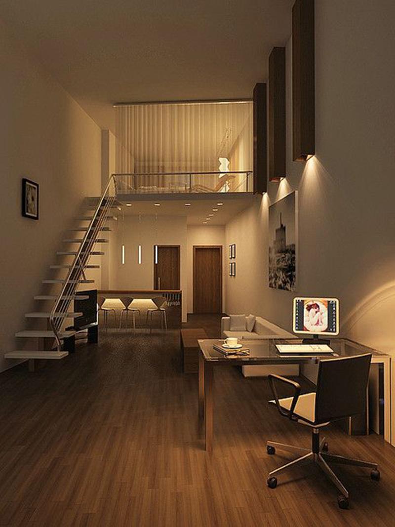 Thiết kế căn hộ 70m2 sử dụng đồ nội thất thông minh