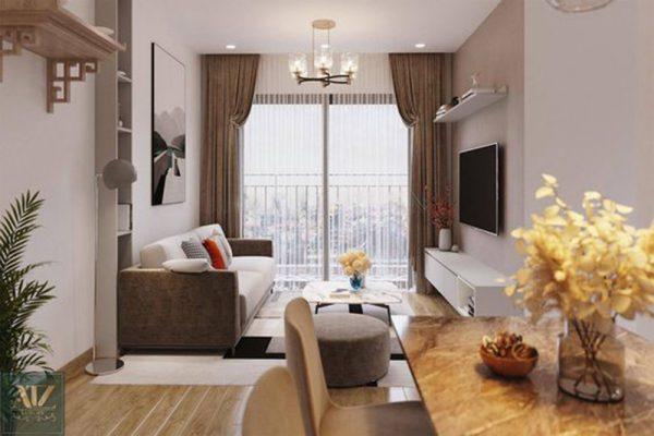 Thiết kế phòng khách chung cư đẹp tại Opan Việt Nam
