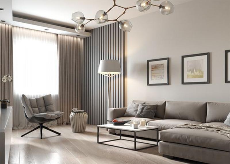 Phòng khách – phòng làm việc – nội thất đơn giản