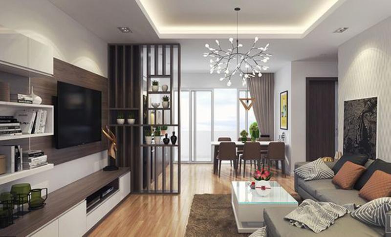 Thiết kế căn hộ với phòng khách rộng rãi