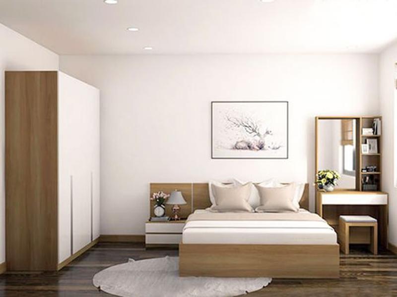 Thiết kế nội thất phòng ngủ nhà ống 4m ấm cúng