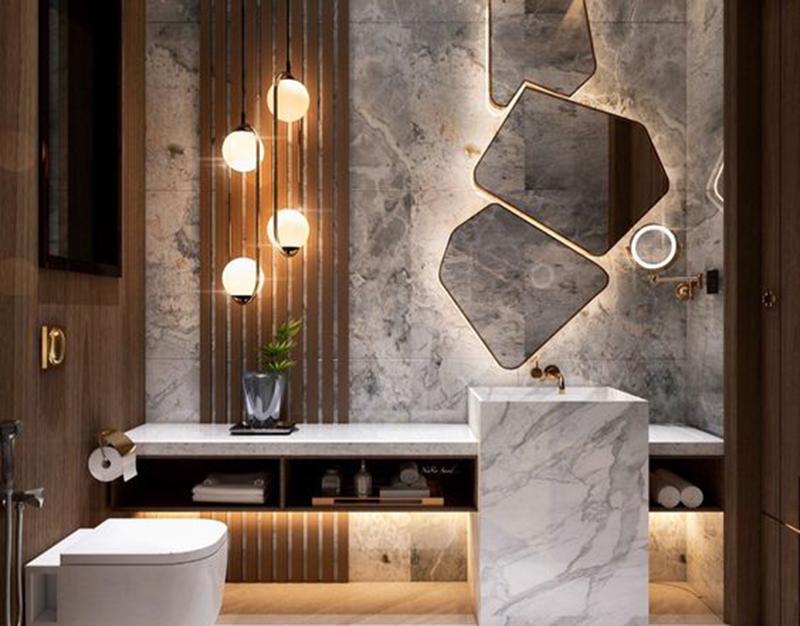 Thiết kế phòng tắm chung cư 70m2
