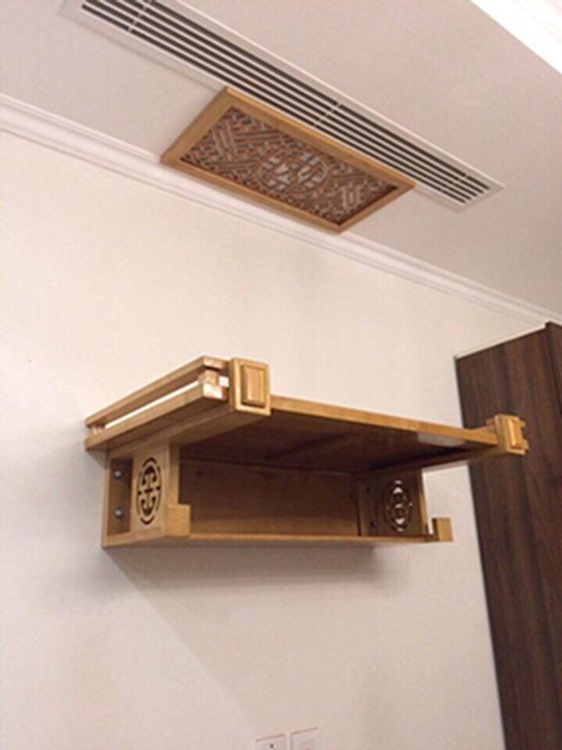 Phòng thờ gia tiên đơn giản dành cho nhà phố