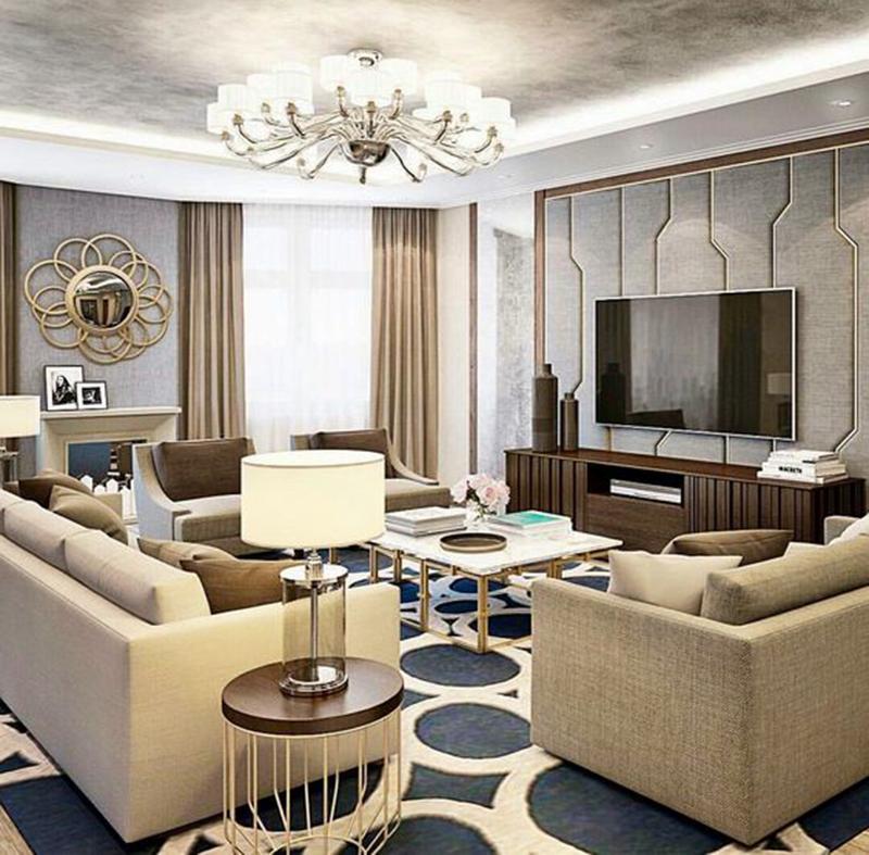 Thiết kế nội thất chung cư phong cách Châu Âu sang trọng