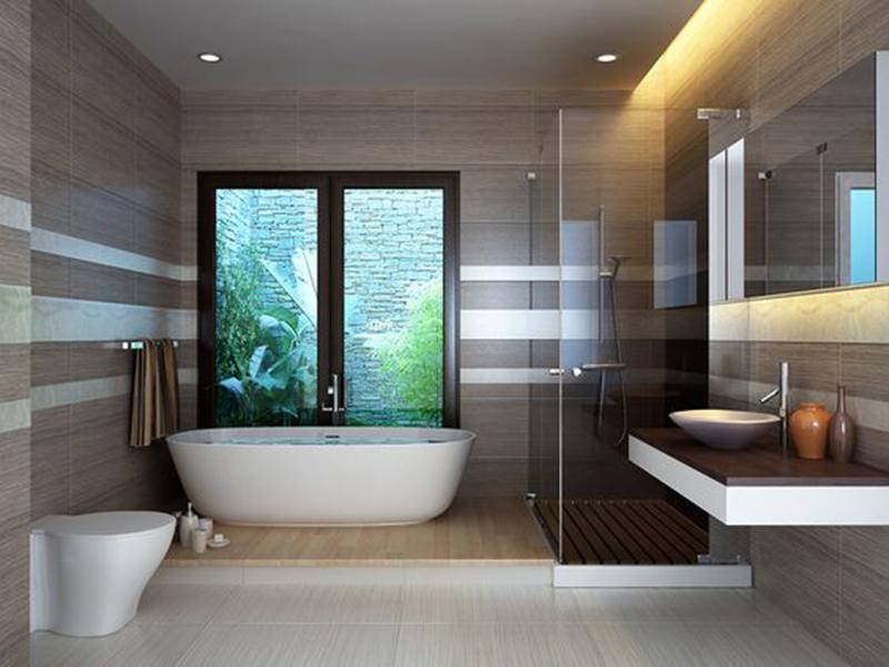 Kinh nghiệm bố trí nội thất phòng tắm và nhà vệ sinh