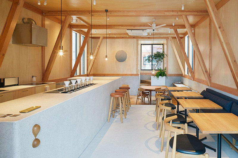 Thiết kế quán cafe phong cách đương đại - Contemporary