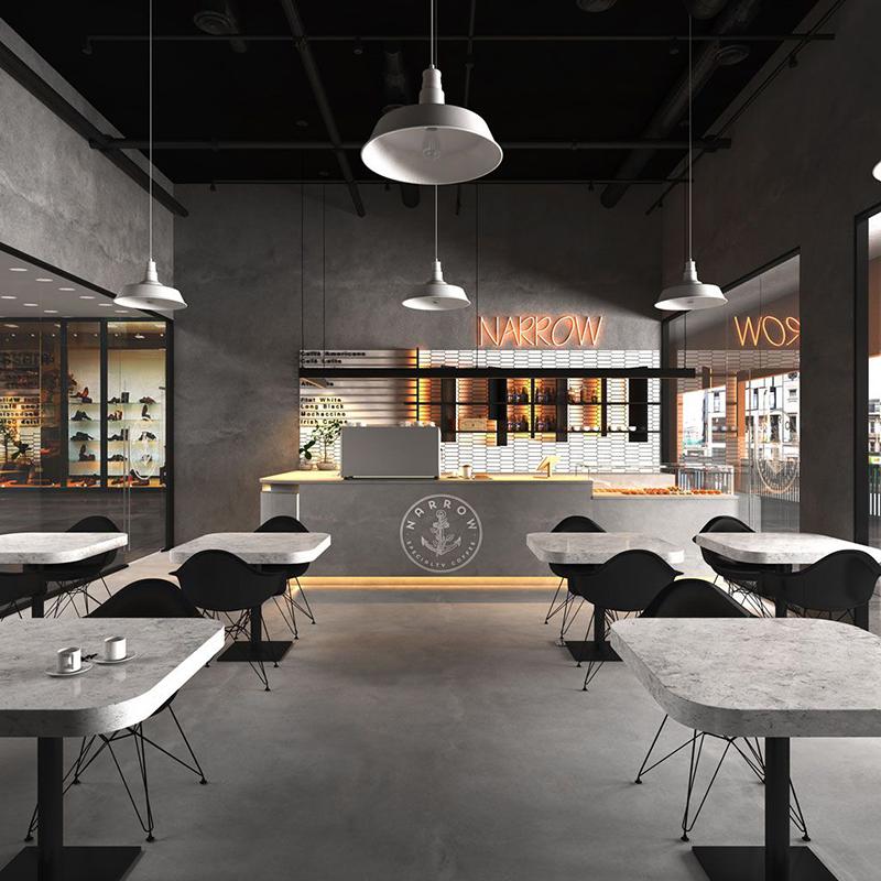 Thiết kế quán cafe phong cách hiện đại - Modern