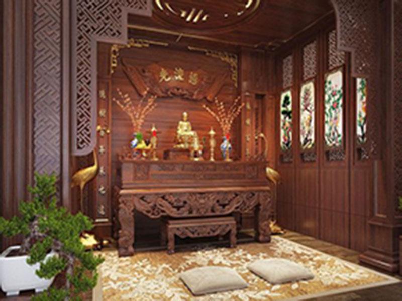 Thiết kế phòng thờ đẹp - hợp phong thuỷ tại Opan Việt Nam