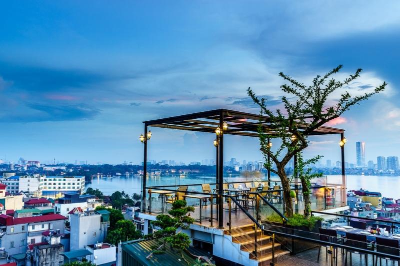 Thiết kế quán cafe ven hồ