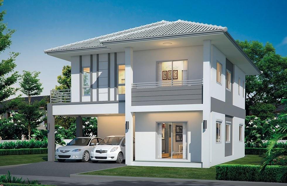 xây nhà 2 tầng 300 triệu ở nông thôn