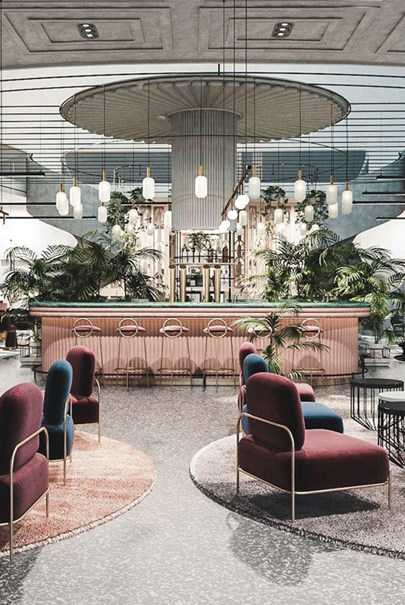 Thiết kế nội thất nhà hàng theo văn hóa bản địa.