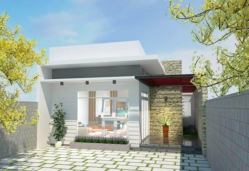 Thiết kế Nhà Cấp 4 Có Gác Lửng 3 Phòng Ngủ Đẹp